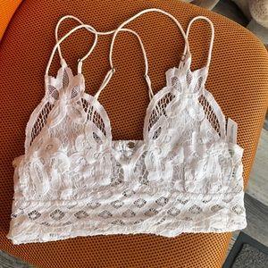 Free people white lace bra small ADELLA